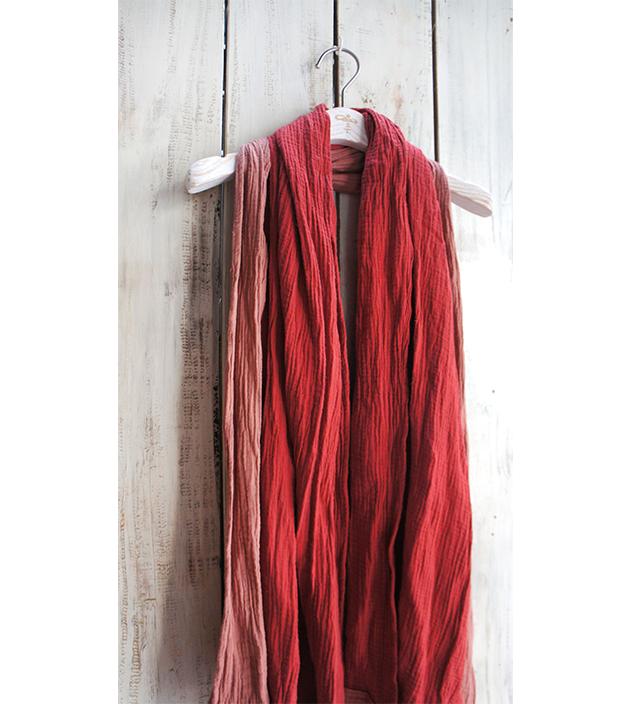 雙色棉長巾 3