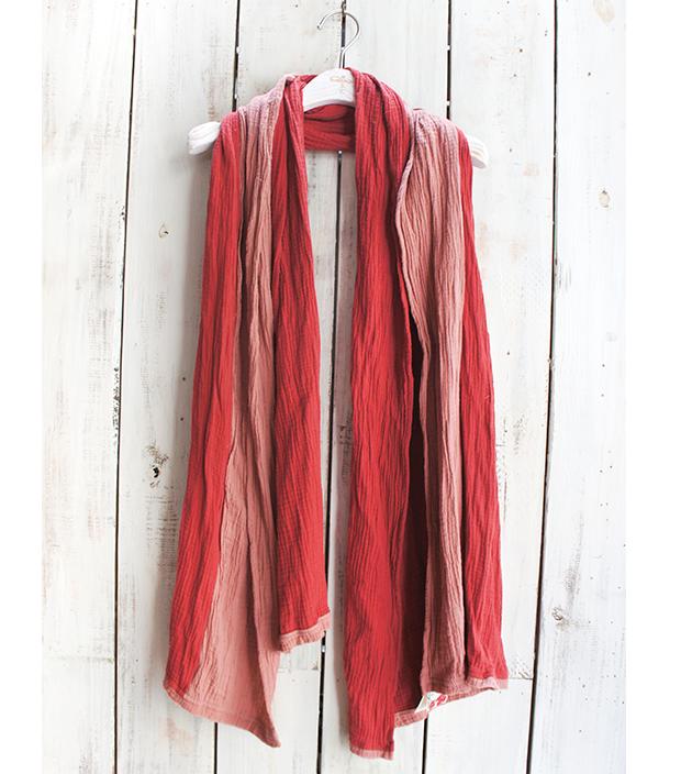 雙色棉長巾 4