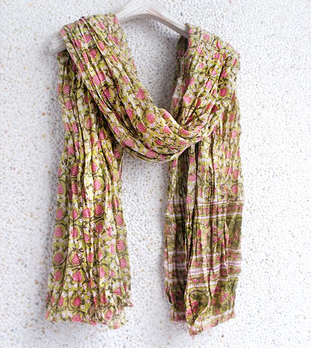 木印長巾.鬱金香 1