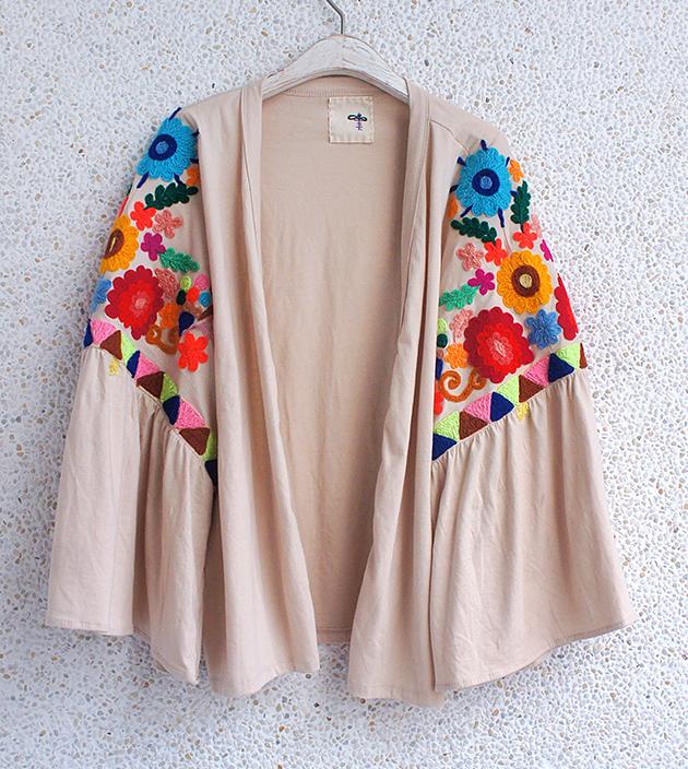 花繡水袖外套 5