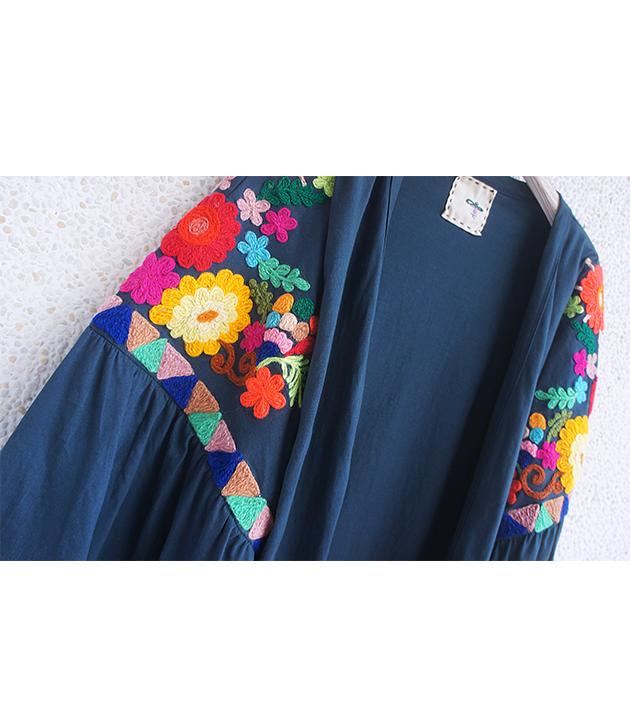 花繡水袖外套 2