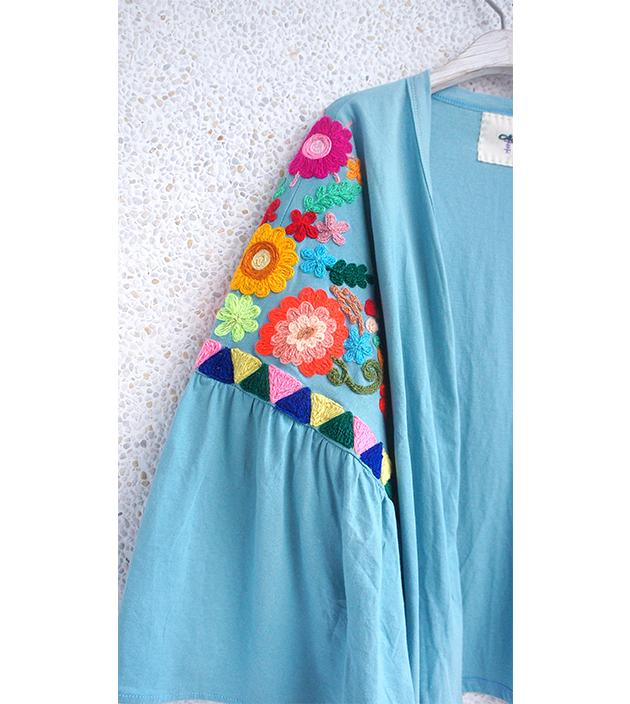 花繡水袖外套 7