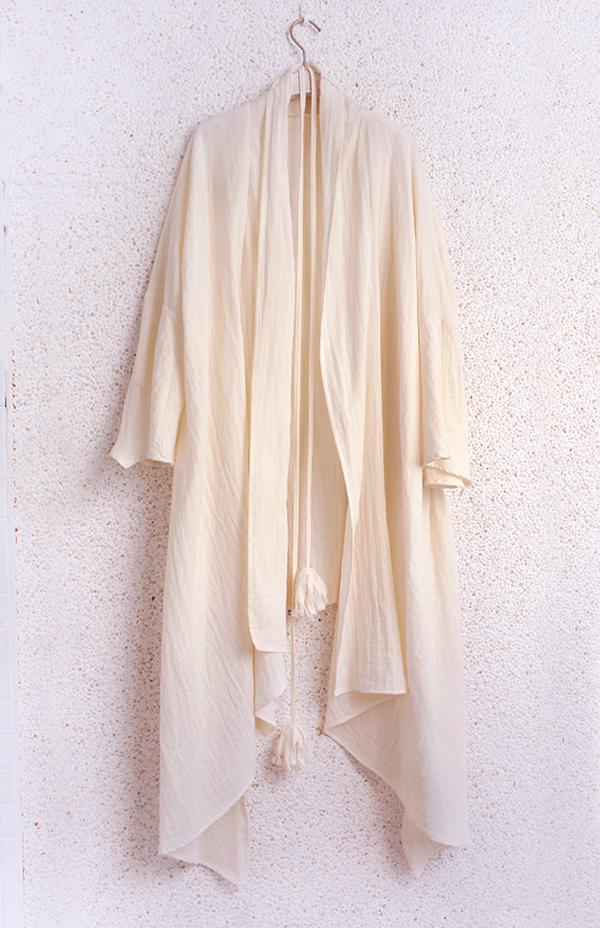 水袖流蘇長罩外套 3