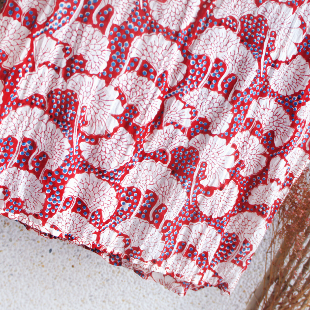木印長巾.紅銀杏 3
