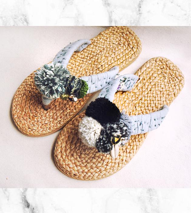 手編水草鞋.素灰 2