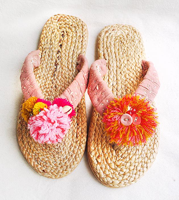 手編水草鞋.素粉 3