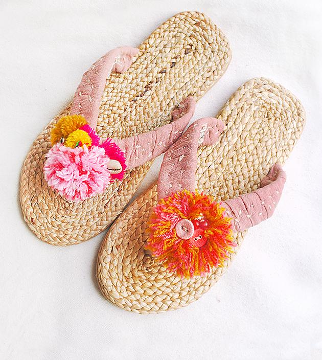 手編水草鞋.素粉 4