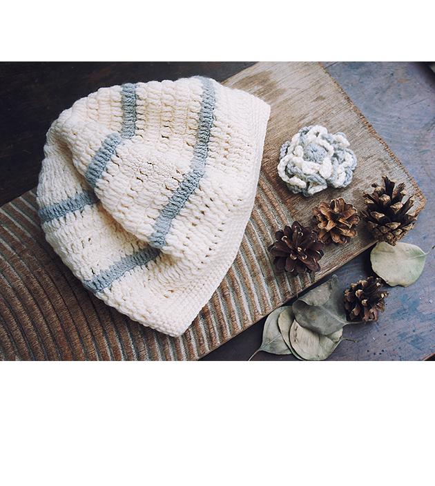 手鉤花朵帽 3